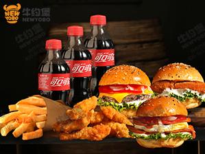 超级汉堡三人份